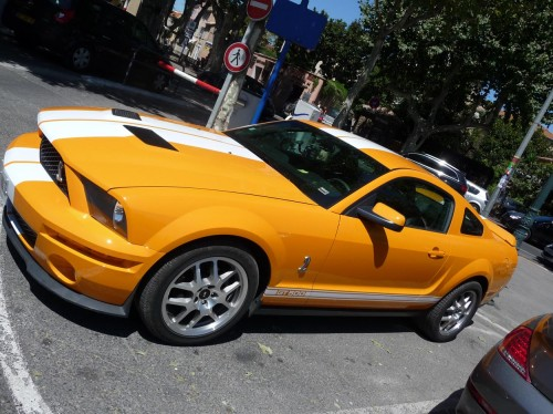 Orange Shelby Mustang GT500