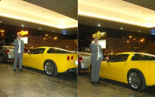 Yellow Corvette Las Vegas